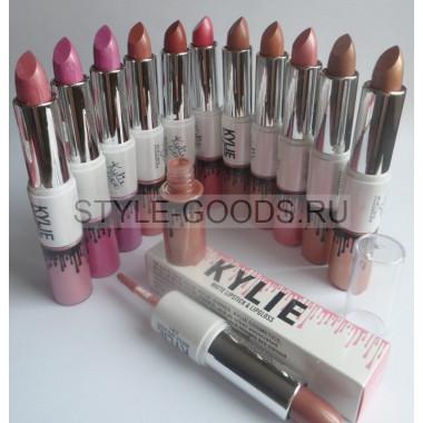 Помада+Блеск Kylie Matte Lipstick&Lipgloss ,12 шт