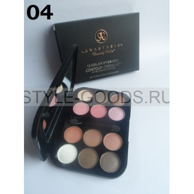 Тени для век Anastasia Contour Cream Kit 12цв, 04