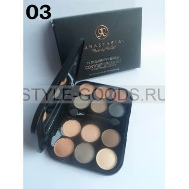 Тени для век Anastasia Contour Cream Kit 12цв, 03