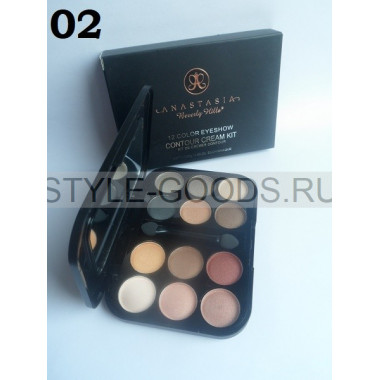 Тени для век Anastasia Contour Cream Kit 12цв, 02