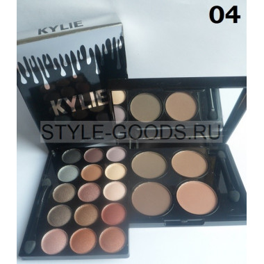Тени + хайлайтер Kylie Travel Pack Matte, № 04