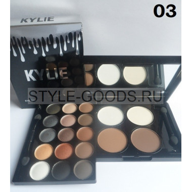 Тени + хайлайтер Kylie Travel Pack Matte, № 03