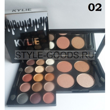 Тени + хайлайтер Kylie Travel Pack Matte, № 02