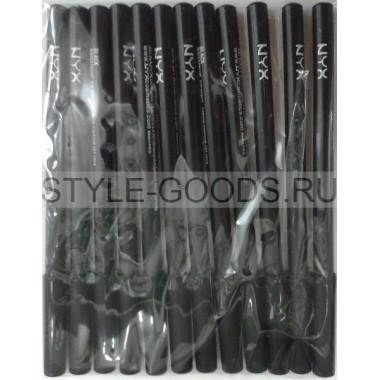 Карандаши для глаз NYX, 12 шт. (черные)
