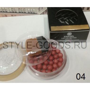 Румяна-шарики с кисточкой Chanel Meteorites,  04
