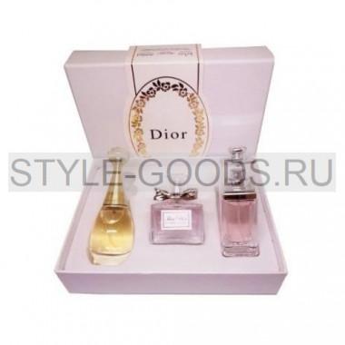 Подарочный набор парфюмерии Dior 3 в 1