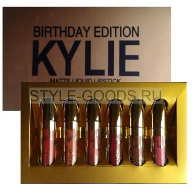 Набор блесков для губ Kylie Birthday Edition, 6 штук