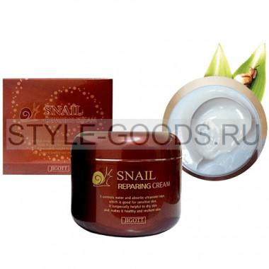 Крем Jigott Snail Reparing Cream, 100 мл