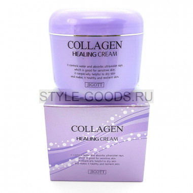 Ночной крем Jigott Collagen Healing Cream, 100 мл