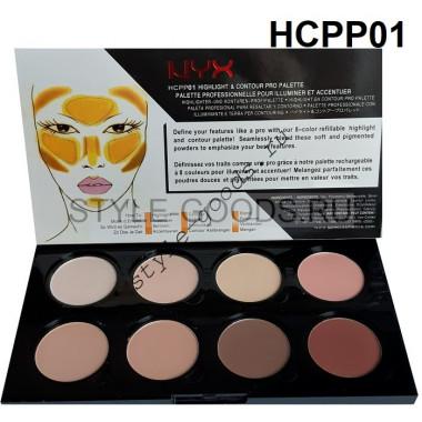 Контур-хайлайтер для лица NYX Palette, 8 цветов (HCPP01)