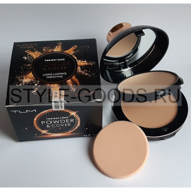 Пудра для лица TLM Flawless Finish Powder&Cover, 101 (черная)