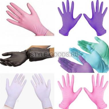 (50 пар) Перчатки нитриловые неопудренные текстурированные нестерильные