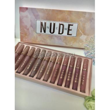 Набор блесков для губ NUDE New, 12 штук