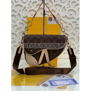 Женская сумка с широким ремешком