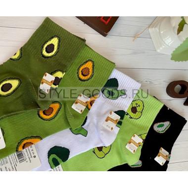 Носки женские с авокадо (упаковка 10 пар)
