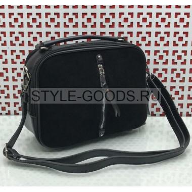 Женская сумка замшевая с ремешком
