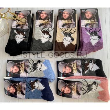 Носки женские шерстяные (упаковка 12 пар)