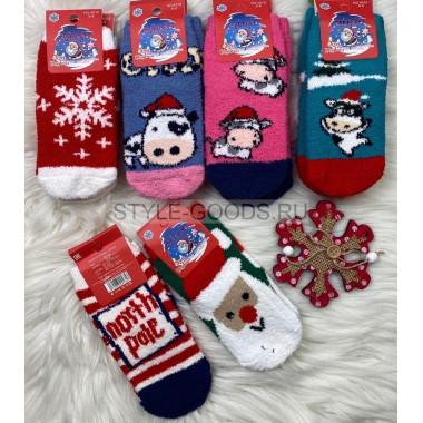 Детские носки махровые 10 пар (6-8 лет)