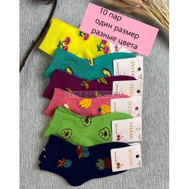Детские носки разноцветные 10 пар