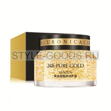 Крем для лица Venzen 24K Pure Gold с нано-золотом
