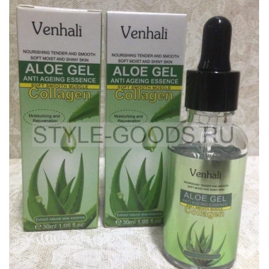 Сыворотка для лица Venhali Aloe Gel Anti Ageing
