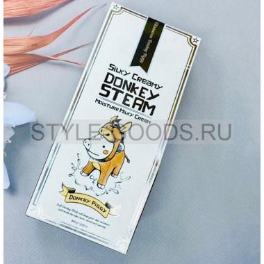 Крем для лица Elizavecca Silky Creamy Donkey Steam Moisture Milky