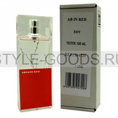 "Armand Basi ""In Red eau de toilette"",100 мл (тестер)"