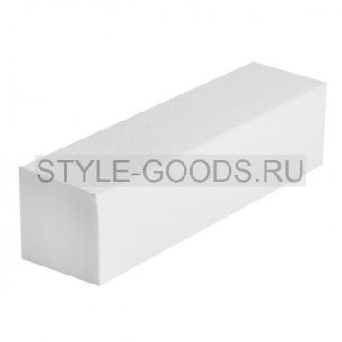 Баф шлифовочный блок для ногтей (белый)