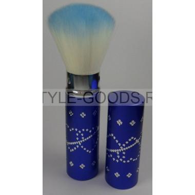 Кисточка для макияжа выдвижная  (синяя)