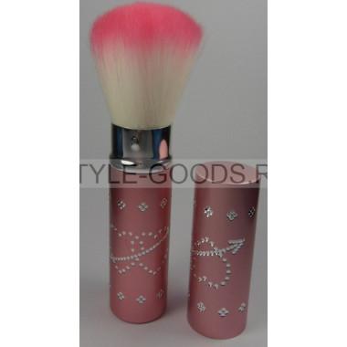 Кисточка для макияжа выдвижная  (розовая)