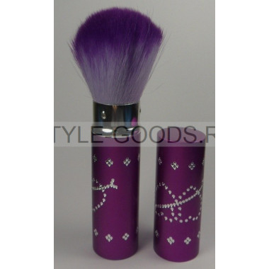 Кисточка для макияжа выдвижная  (фиолетовая)