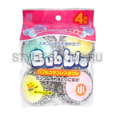 "Губка для мытья посуды ""Babble Kokubo"", 4 шт."