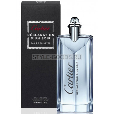 "Cartier ""Declaration D`Un Soir"" for men, 120 мл"