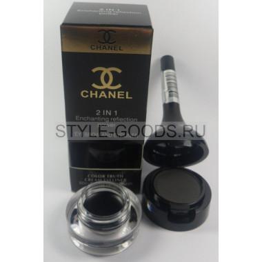 Набор Chanel тени для бровей,подводка (черные)