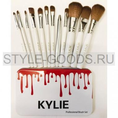 Кисти для макияжа Kylie 12 штук (белые)