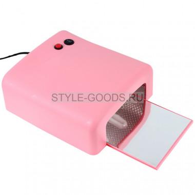 УФ-лампа ZH-818 36W с таймером (розовая)