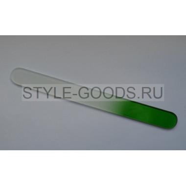 Пилка стеклянная для ногтей ZINGER (зеленая)