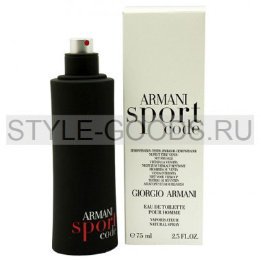 """G. Armani """"Code Sport"""", 75 мл (тестер) (м)"""